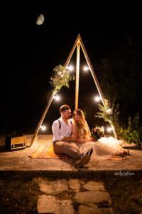 fethiye düğün fotoğrafçısı,ışıklı dekor